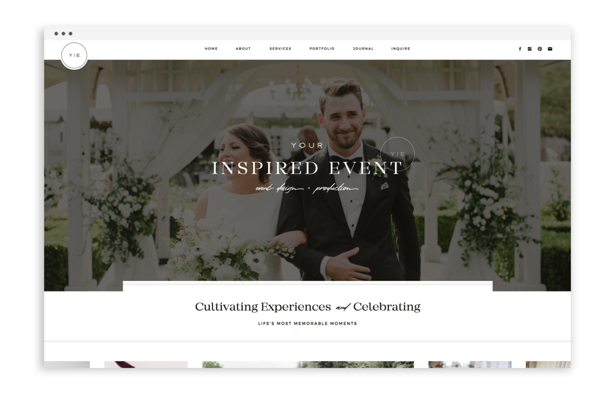 Your Inspired Event - Custom Brand Logo and Showit Website Design by With Grace and Gold - 28