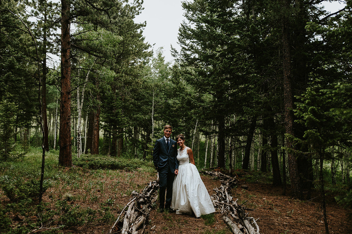 backyard wedding in Nederland Colorado