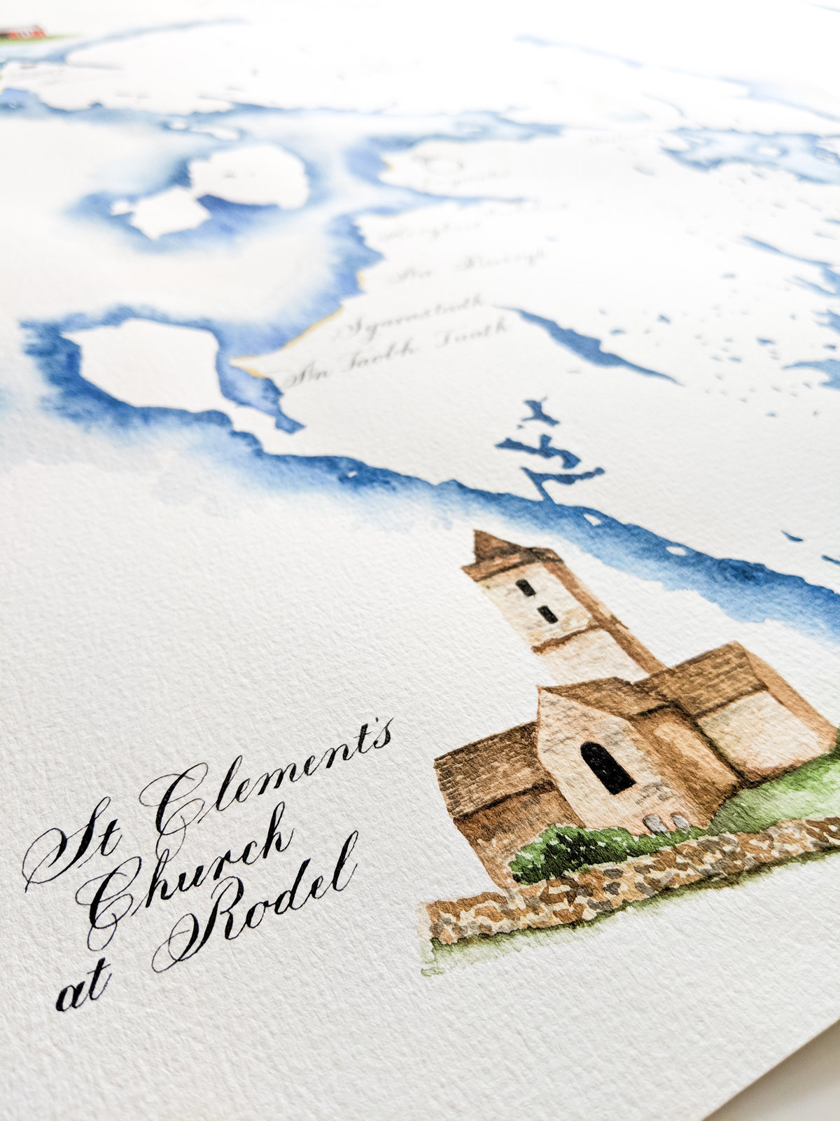 Scottish venue painting | Jenni Liandu Calligraphy