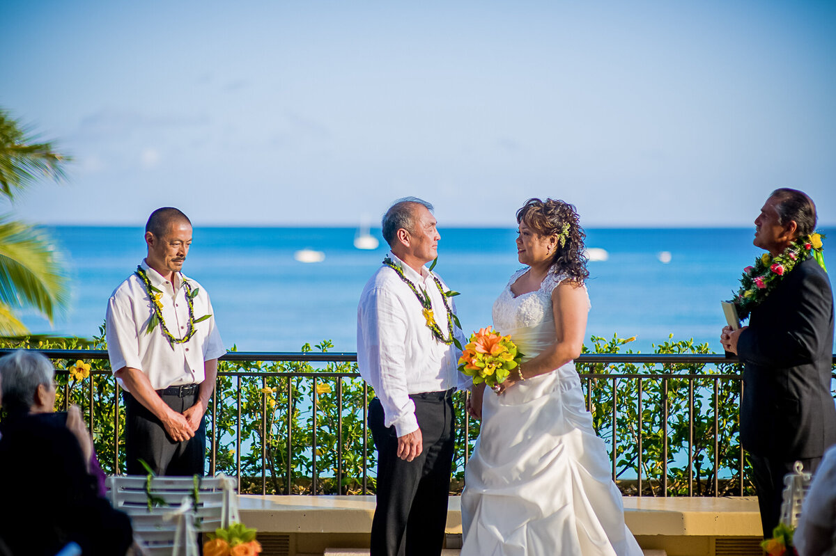 A Wedding Takes Place at the Sheraton Waikiki