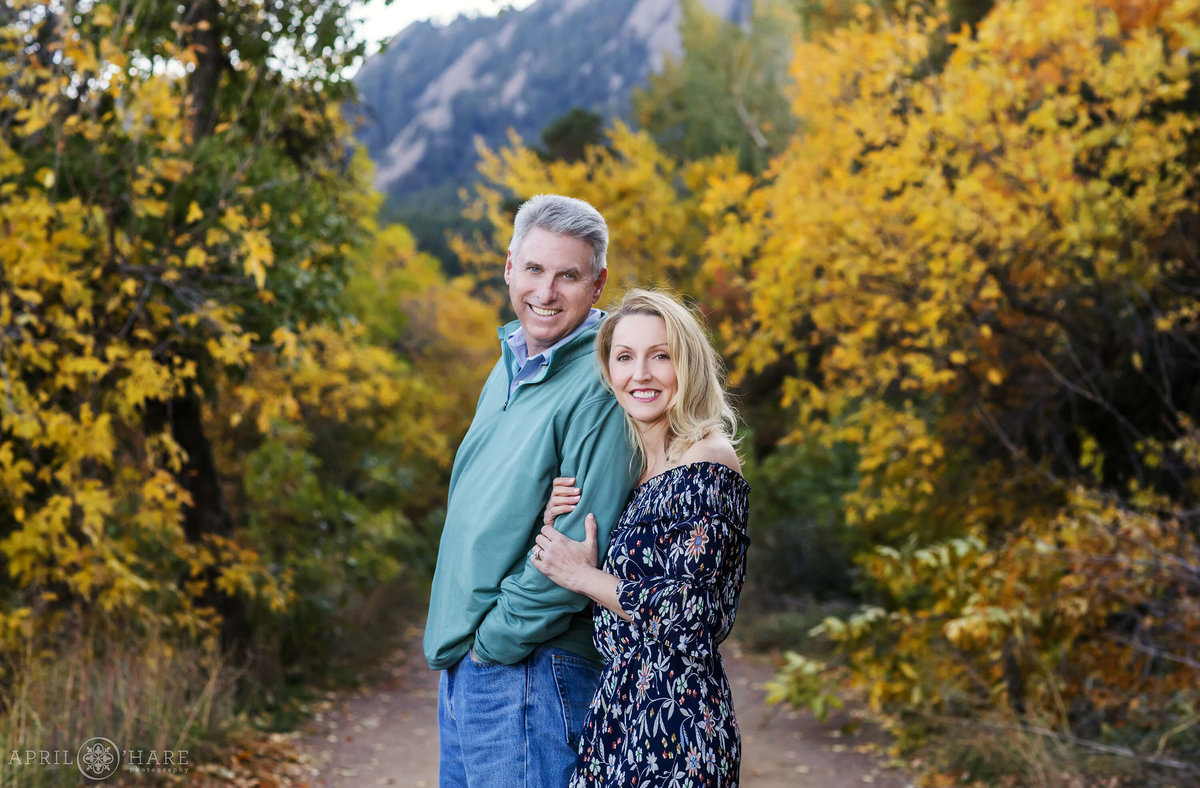 Pretty Fall Color Family Photography Chautauqua Park Boulder Colorado