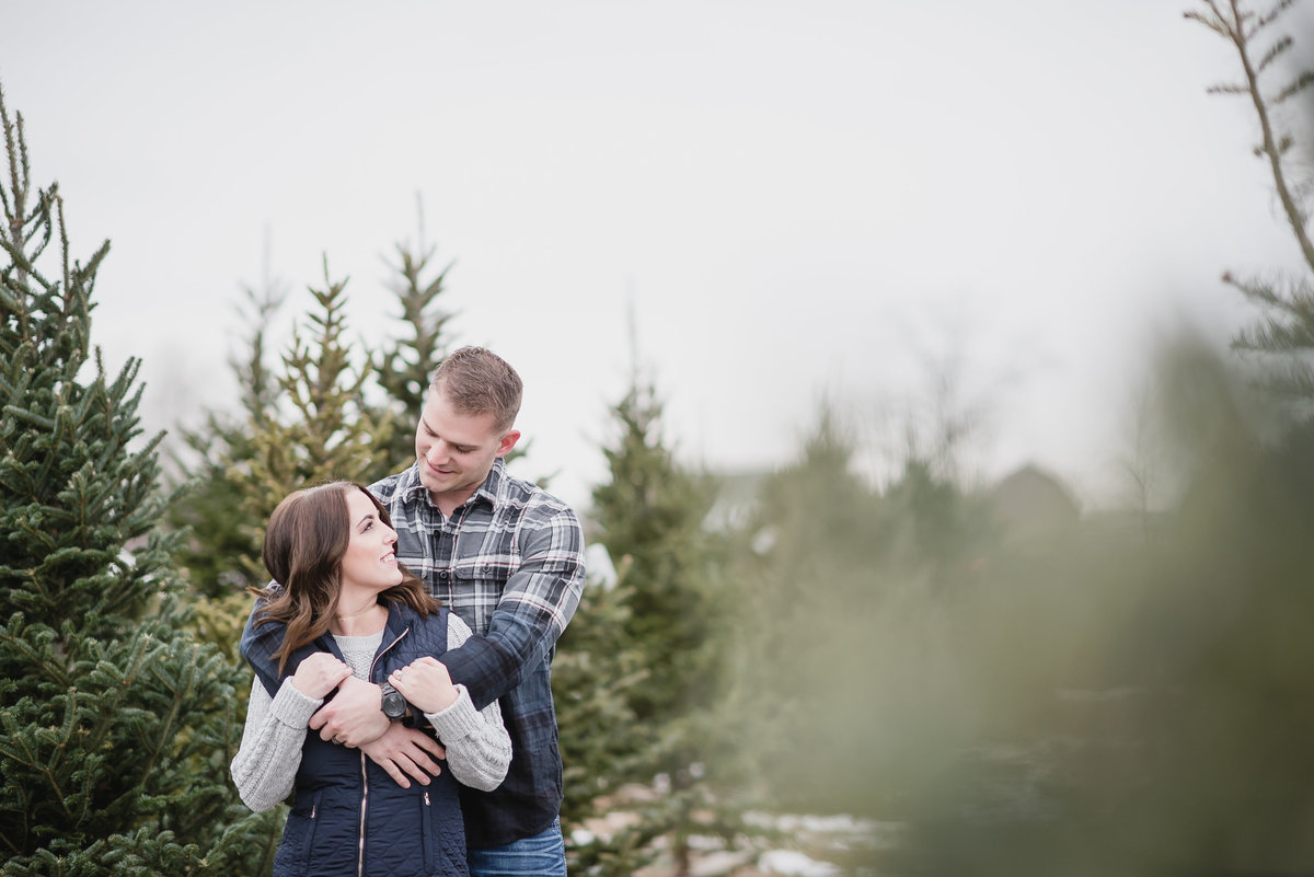 Christmas Tree Farm Baby Announcement3