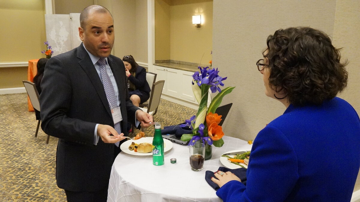Guests enjoying fundraiser planned by cleveland ohio event planner