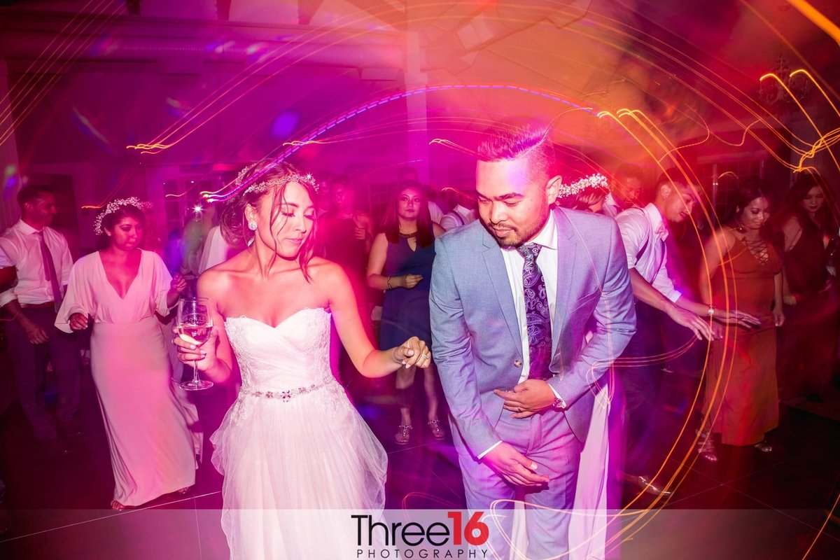 Bride and Groom dance the night away at their reception