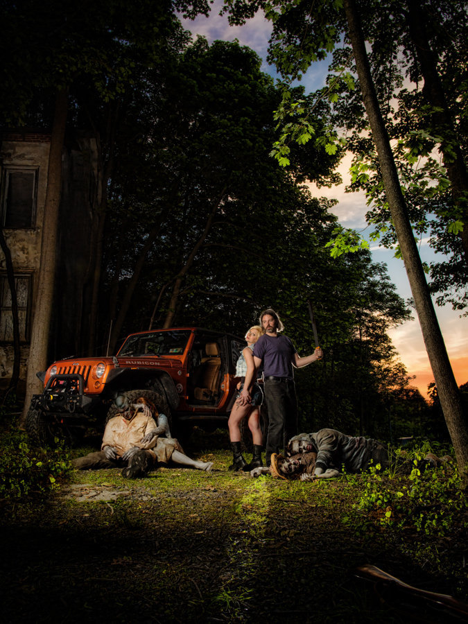Walking Dead Engagement Session featured on Good Morning America