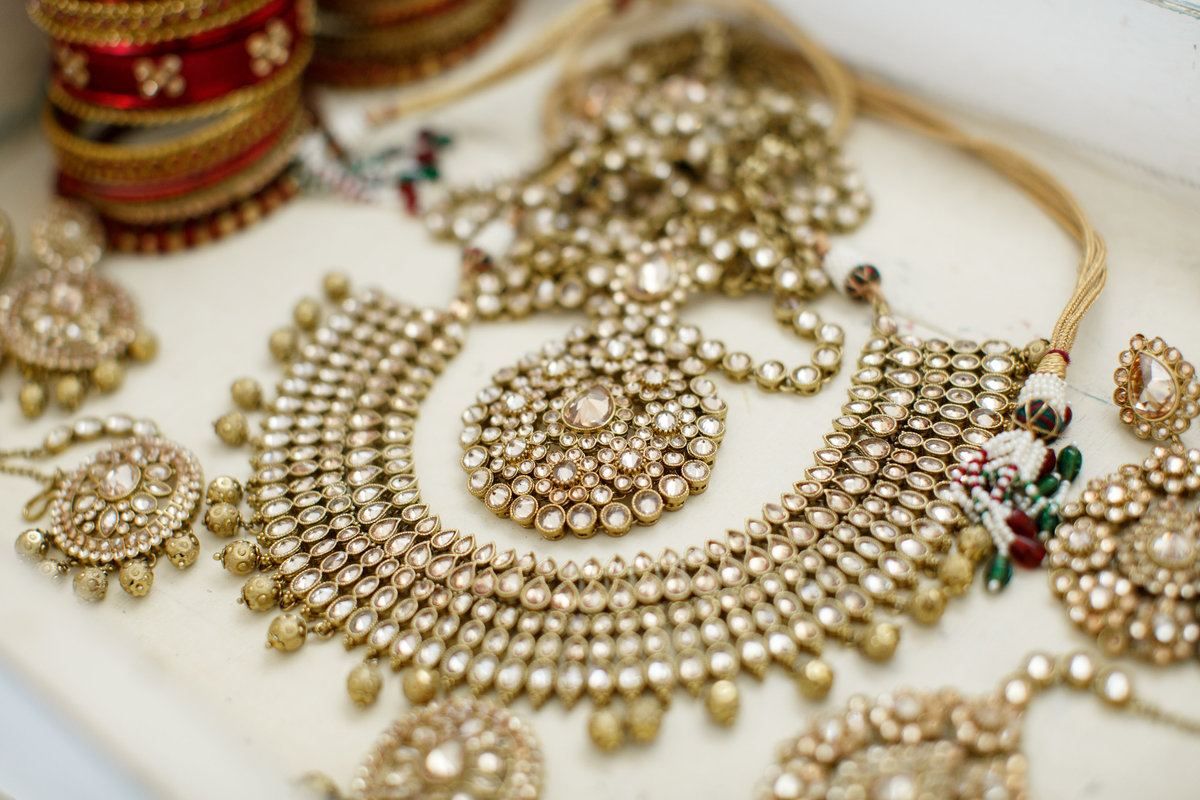 Indian wedding photographer pecan springs ranch bride details necklace 10601 B Derecho Drive, Austin, TX 78737