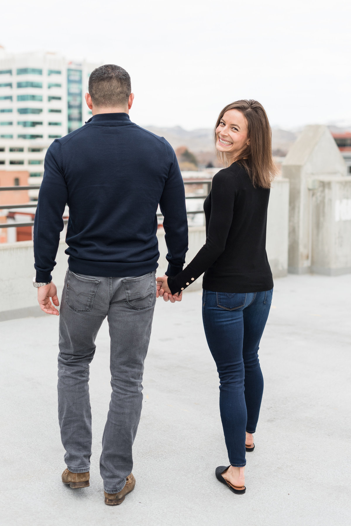 A Winter Downtown Boise Rooftop Engagement Shoot 007
