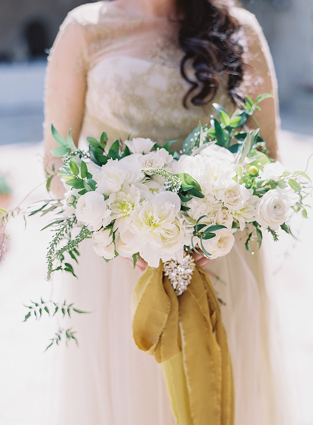 Posh Peony Mission Inn Lush Gray and Gold Greenery Wedding Flowers_0004