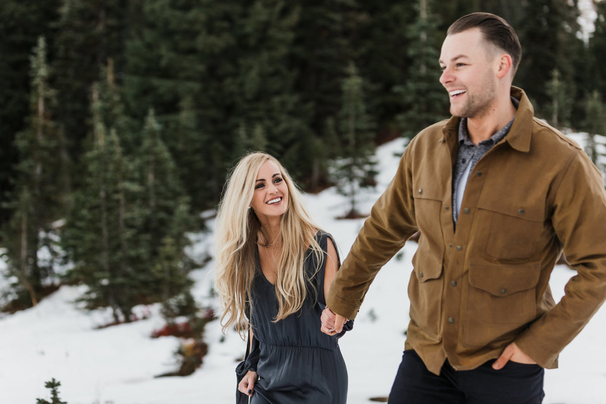 Snowy Mount Rainier Engagement Photos-17