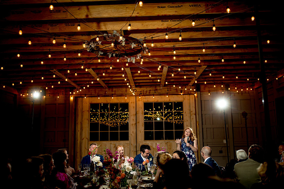 Granby-Colorado-Strawberry-Creek-Ranch-Wedding-Fire-on-the-Mountain-Wedding-Pops-of-Color-Fire-hot-colors-maid-of-honor-speech