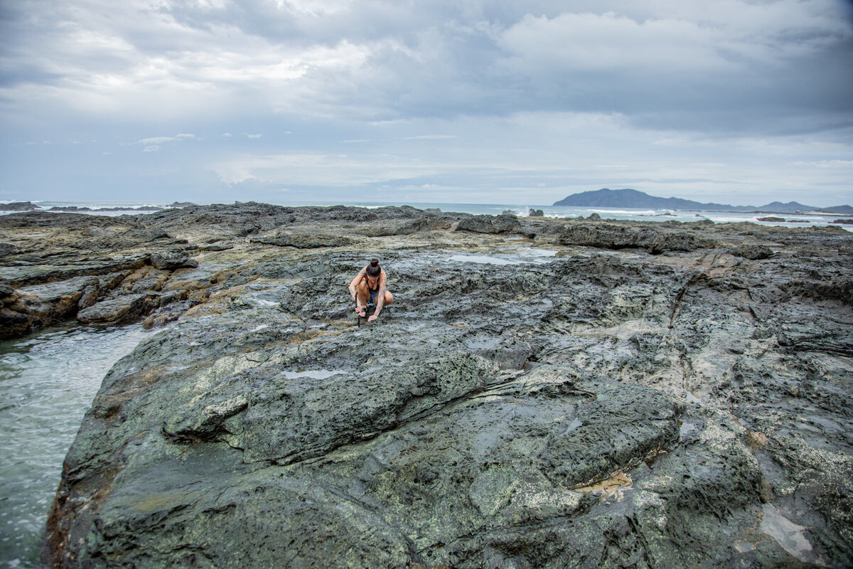 Exploring tide pools in Costa, Rica.