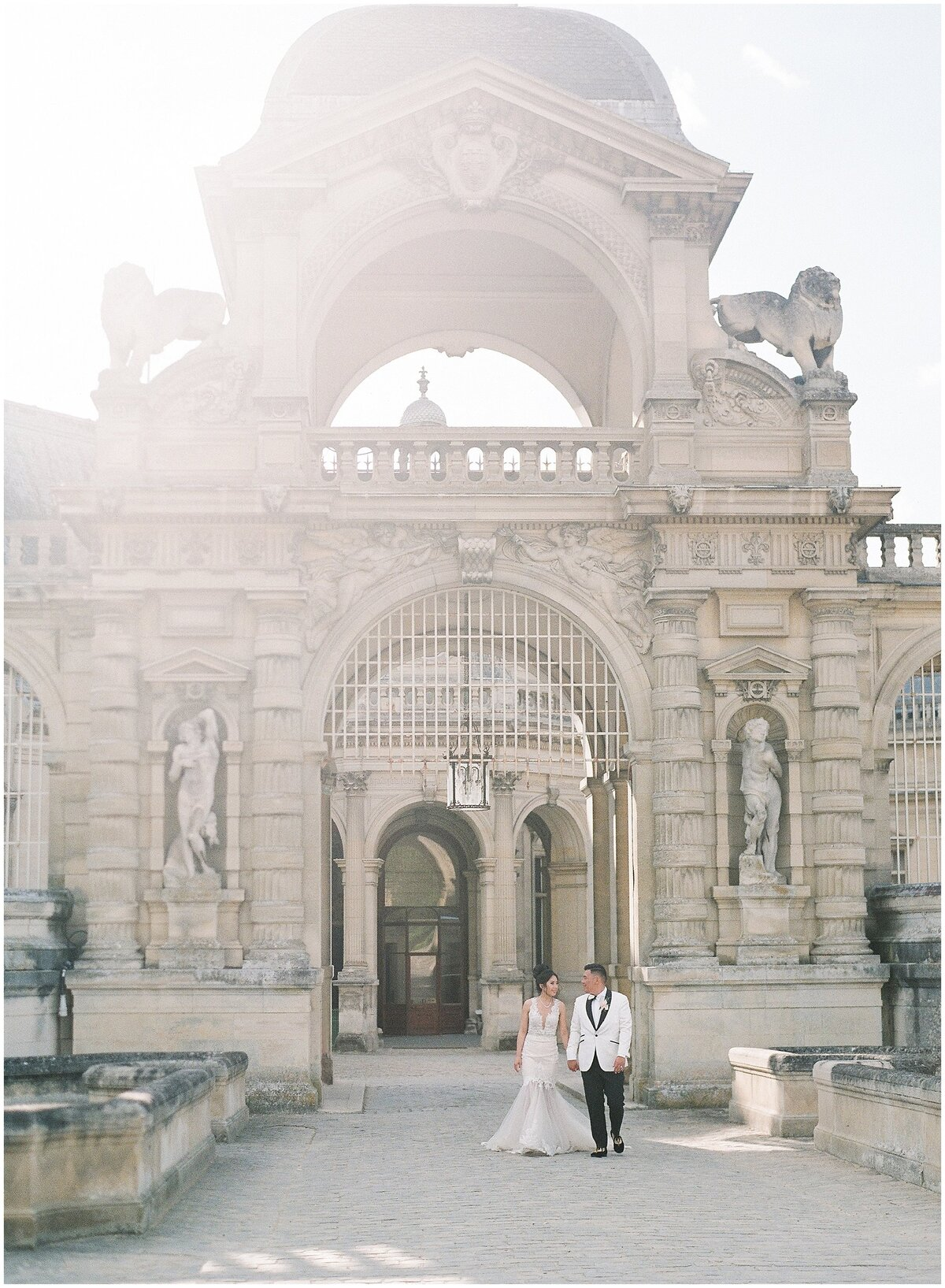 Luxury destination wedding at Chateau de Chantilly in France
