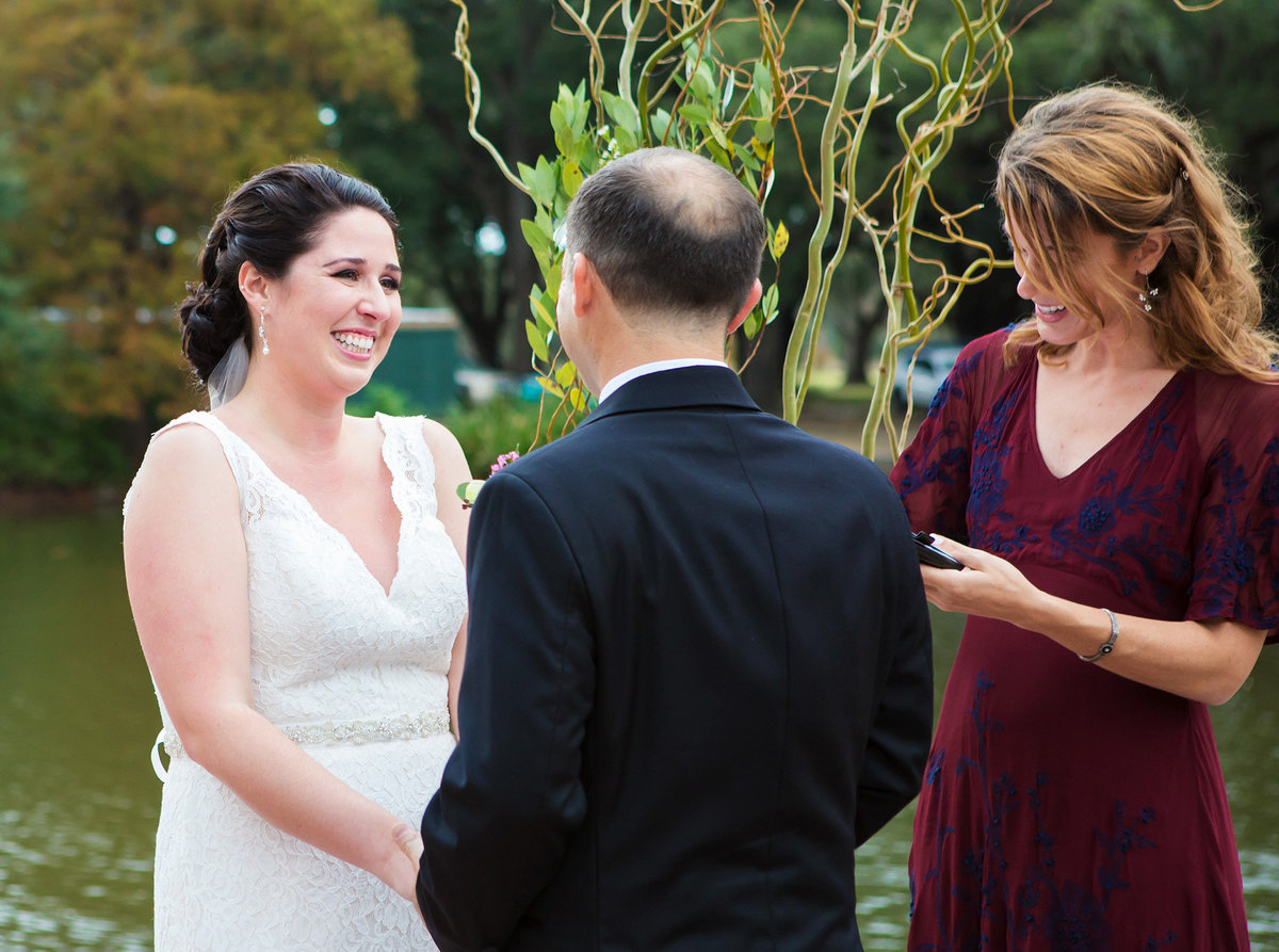 new orleans wedding ceremony in Audubon Park