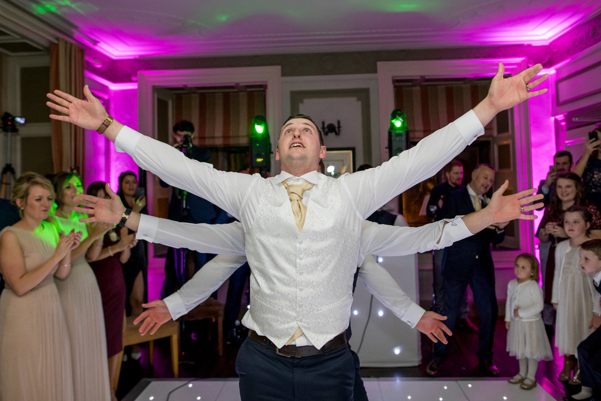 funny first dance by groom at langdon court