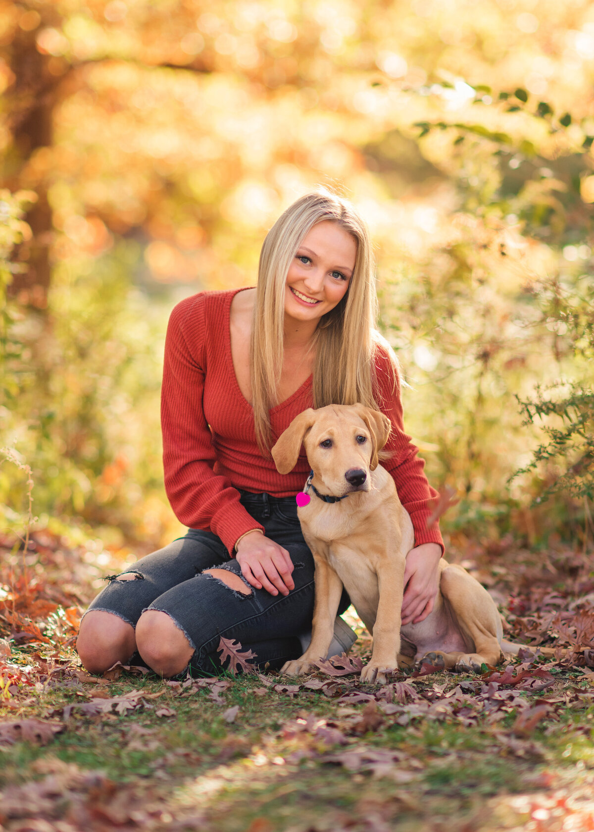 Des-Moines-Iowa-Senior-Photographer-Theresa-Schumacher-Photography-Nature-Fall-Puppy