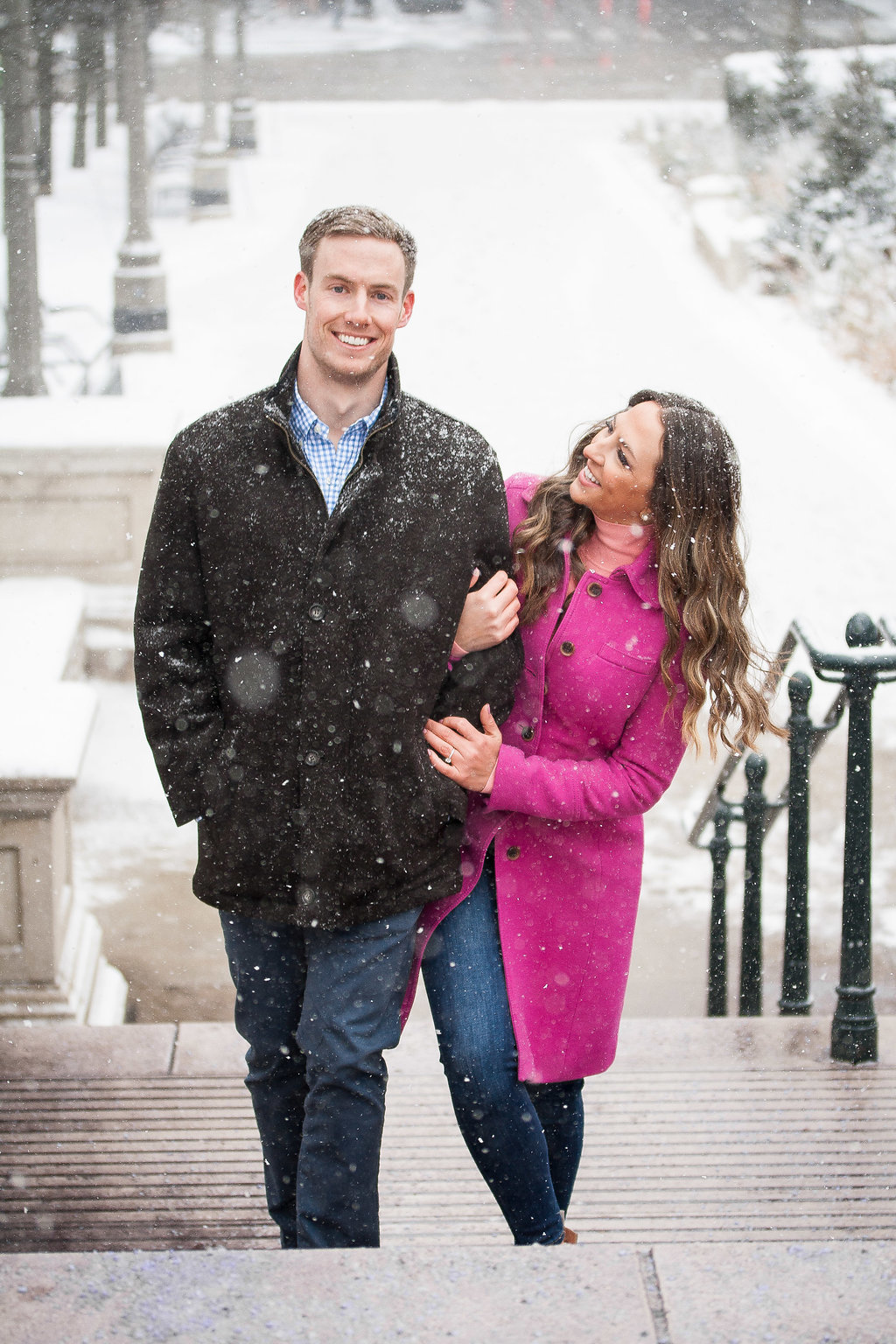 Millennium Park Chicago Illinois Winter Engagement Photographer Taylor Ingles 29