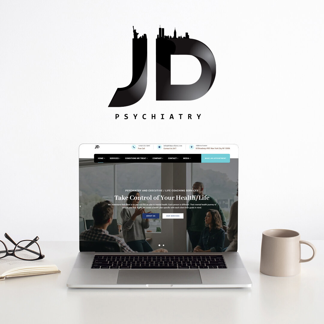 jeffditzellpsychiatry logo and webdesign