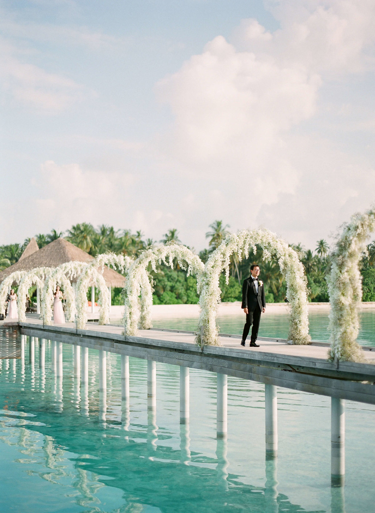 54-KTMerry-destinationwedding-groom-processional-Maldives