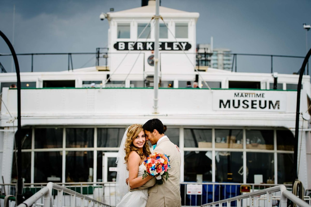 wedding portrait at maritime museum