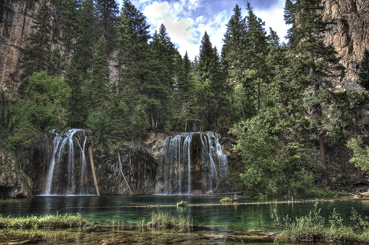 hanging lake  waterfalls in colorado