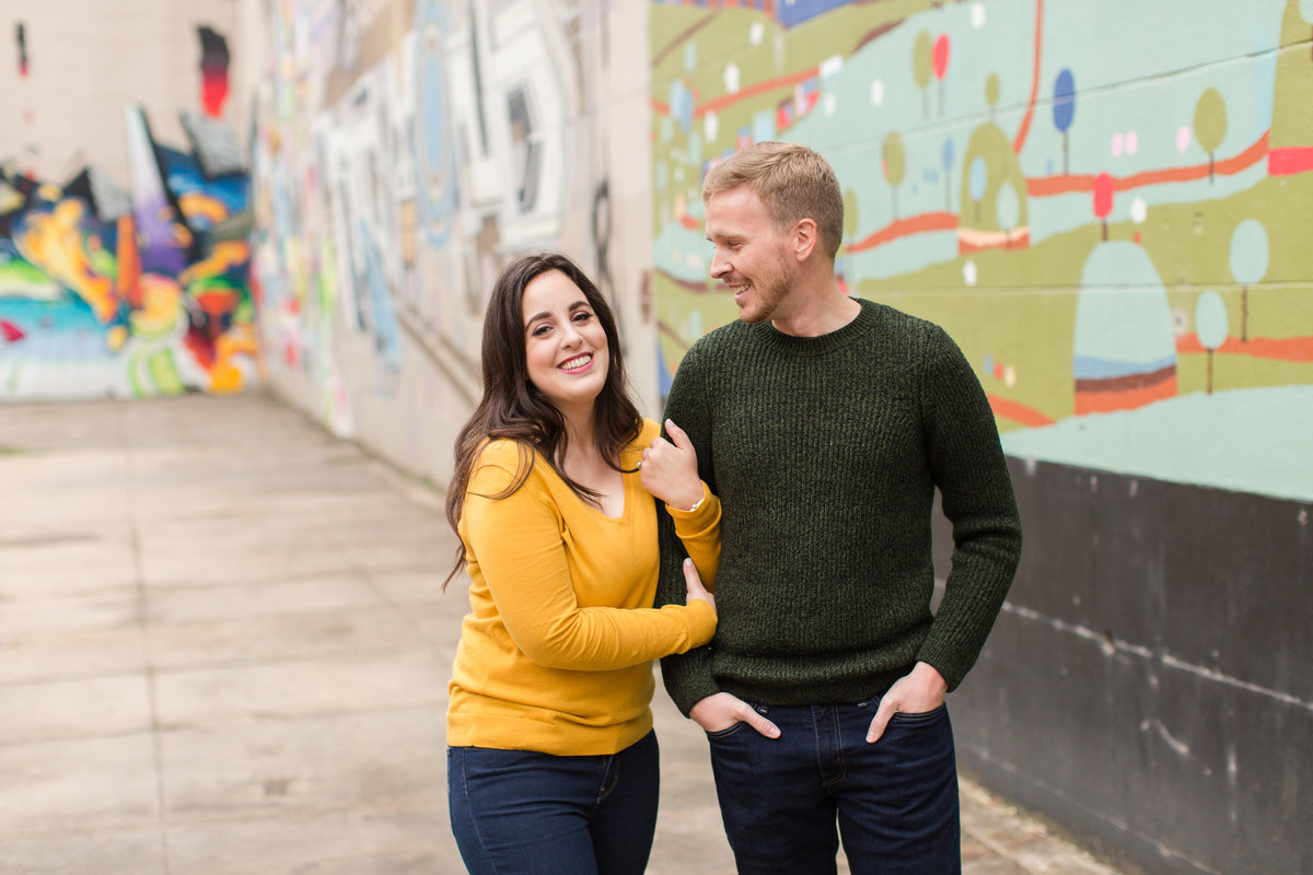 canal walk fall engagement pictures