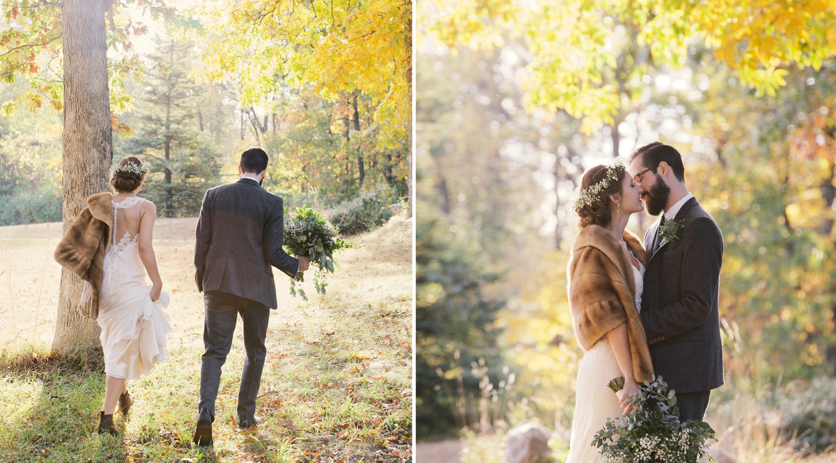 fall wedding in the aspens