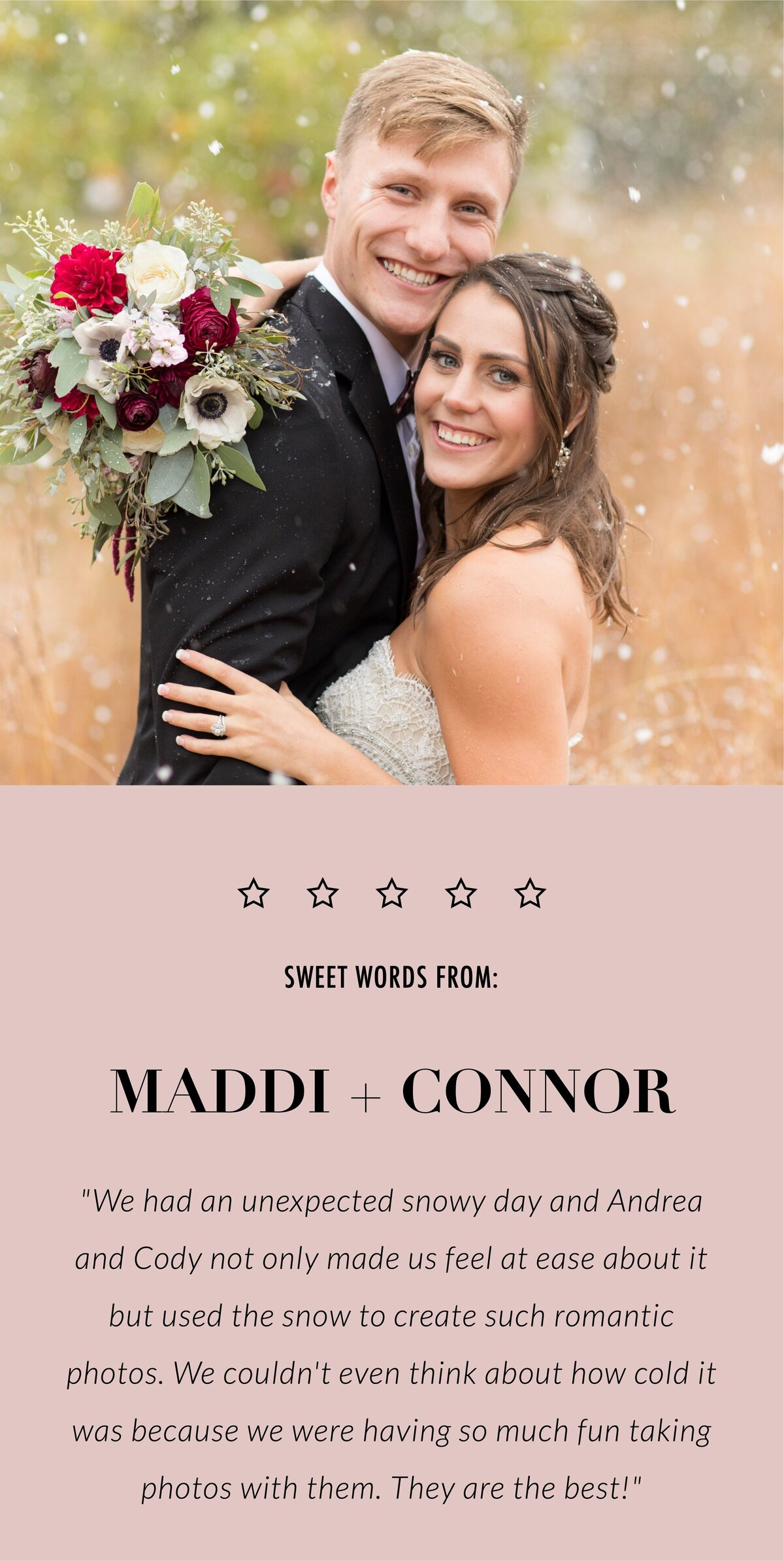 Maddi and Connor review-mobile
