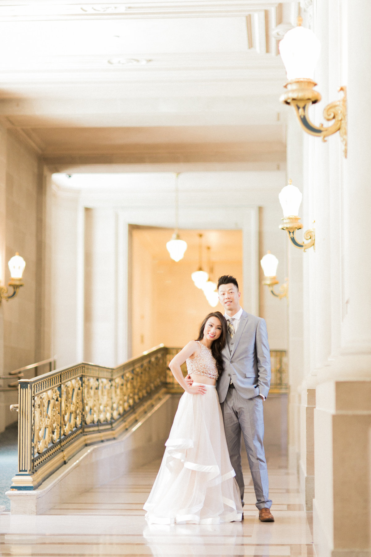Engaged Couple San Francisco City Hall Photography