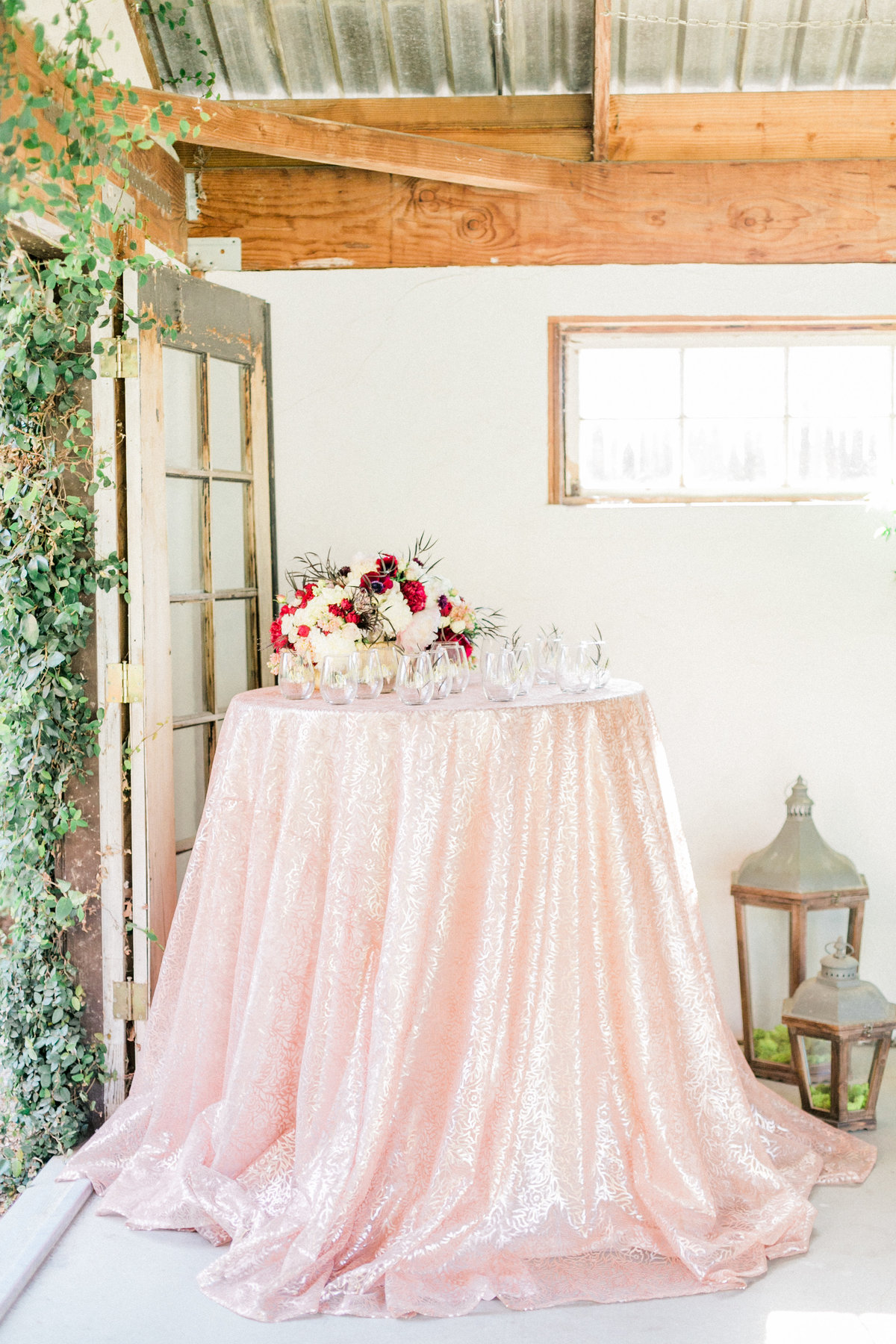 Napa Valley Linens Blush Sequined Linens