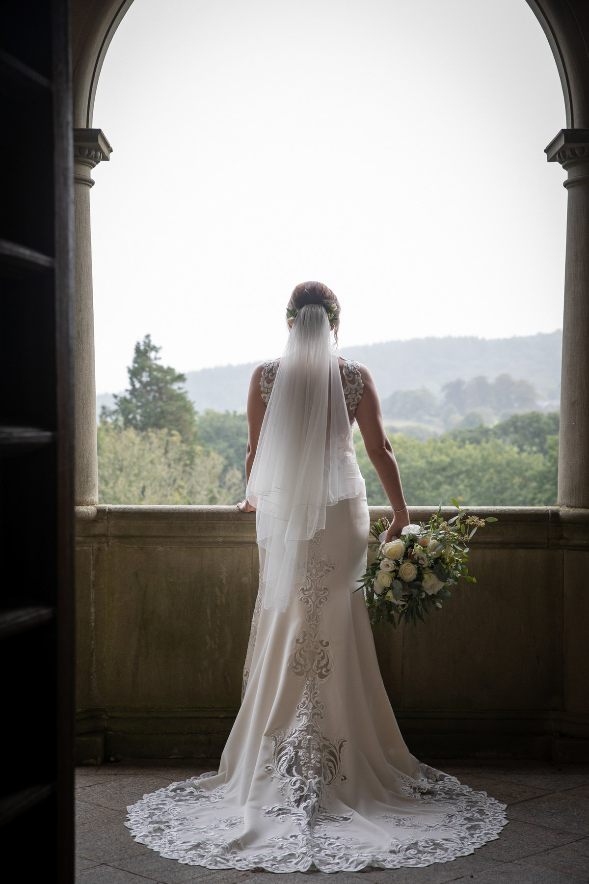 Bridal portrait at Bovey Castle Wedding in Devon