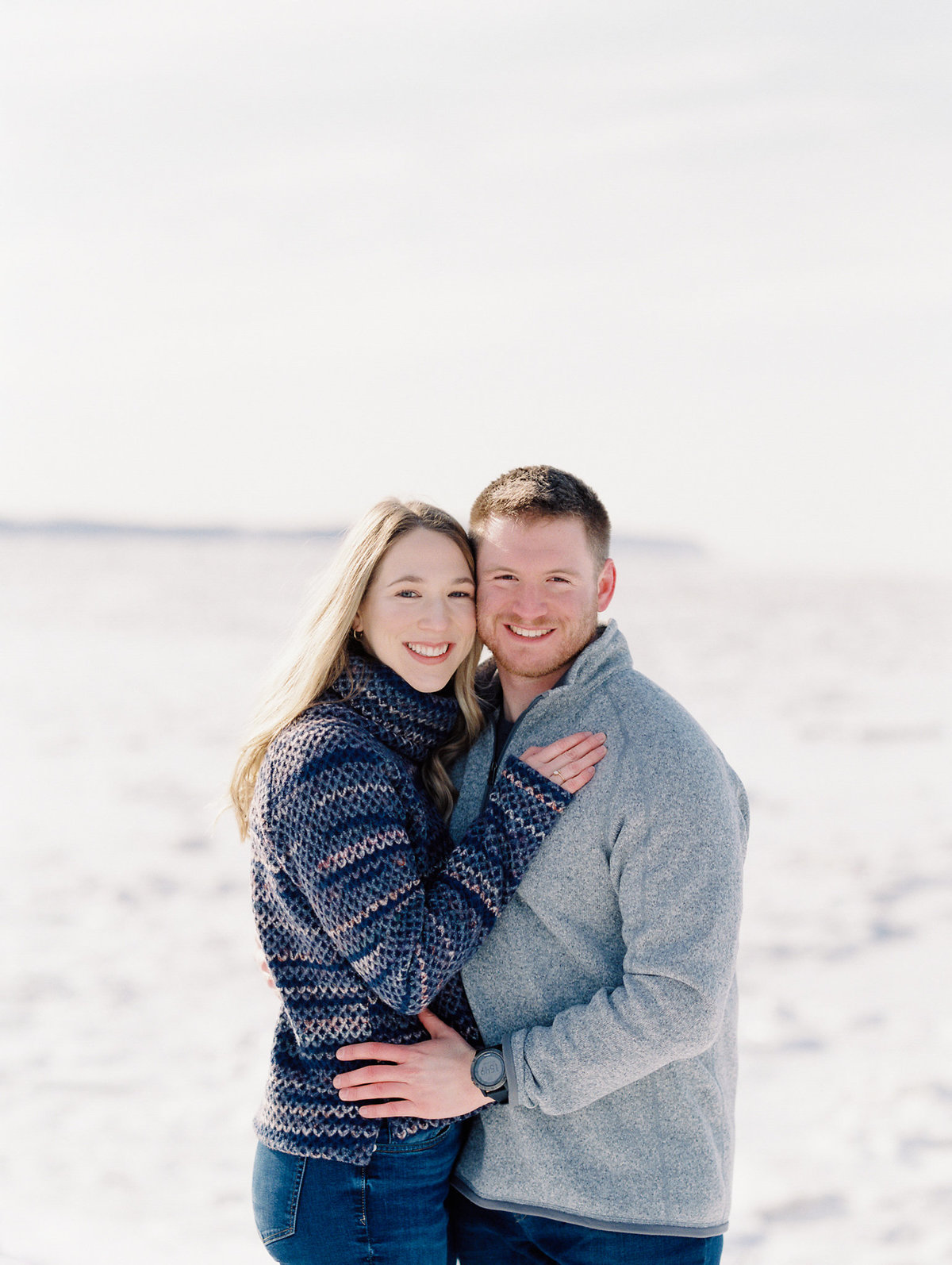 Anchorage winter engagement photographer