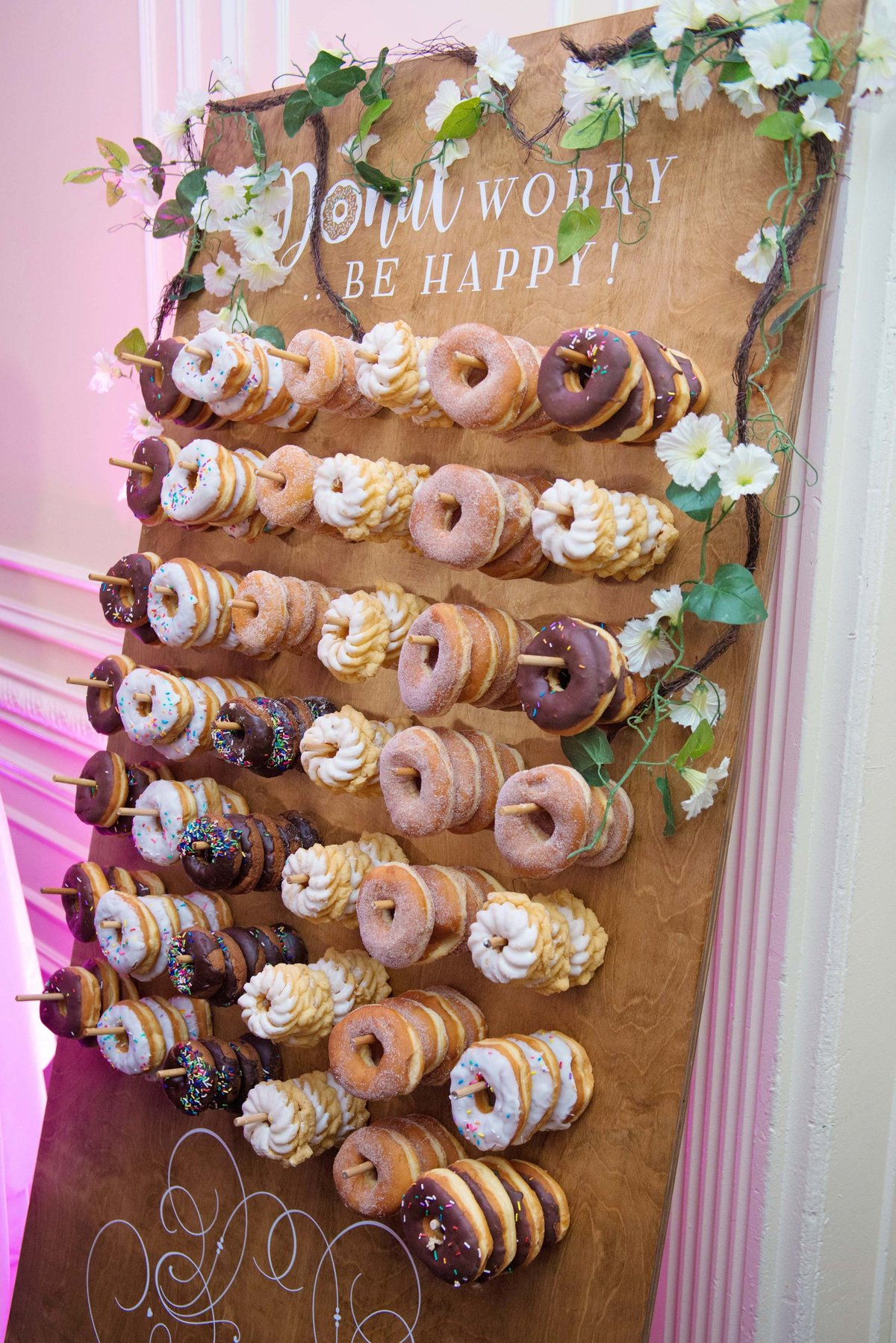 Donut wall at The Inn at New Hyde Park
