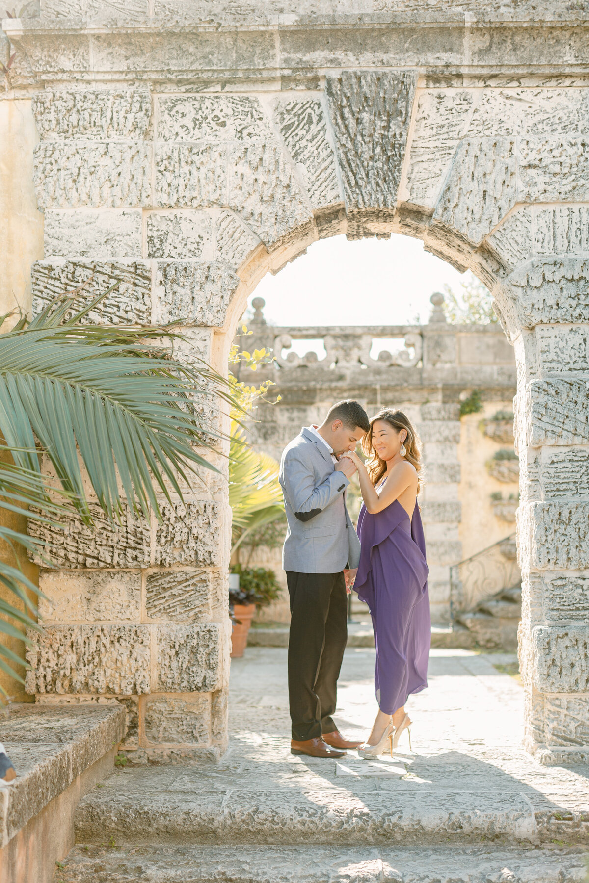 Vizcaya Museum Engagement Photography Session 5