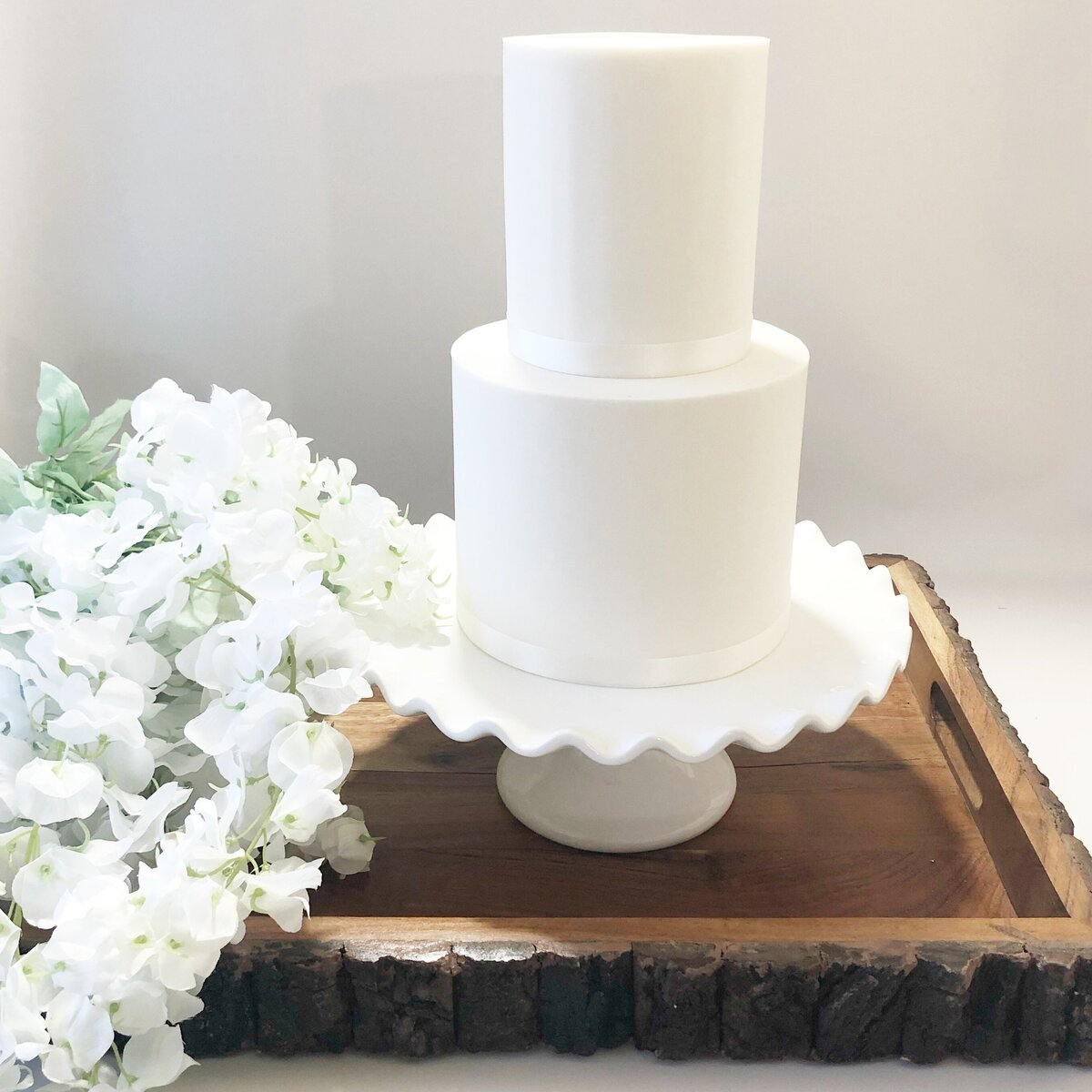 Wood Tray 2 Tier