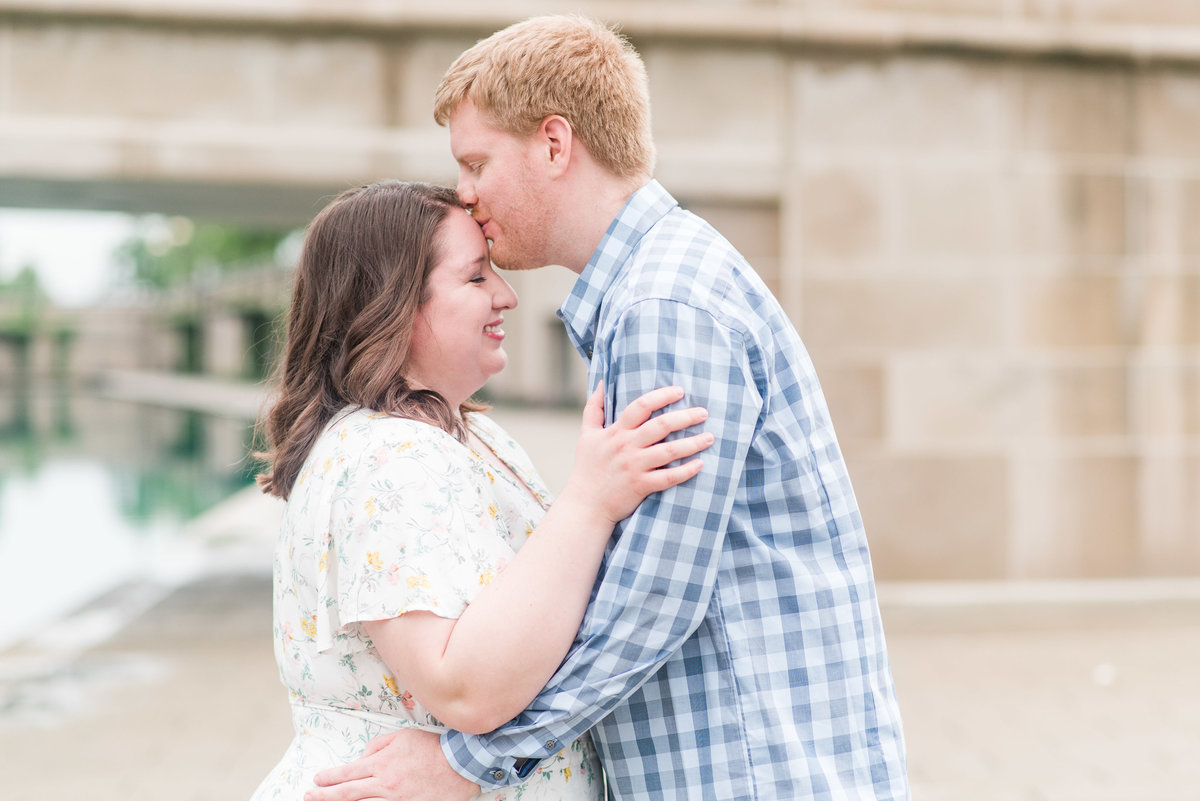 Cait Potter Creative LLC Canal Indianapolis White River State Park Spring Engagement Photos-2
