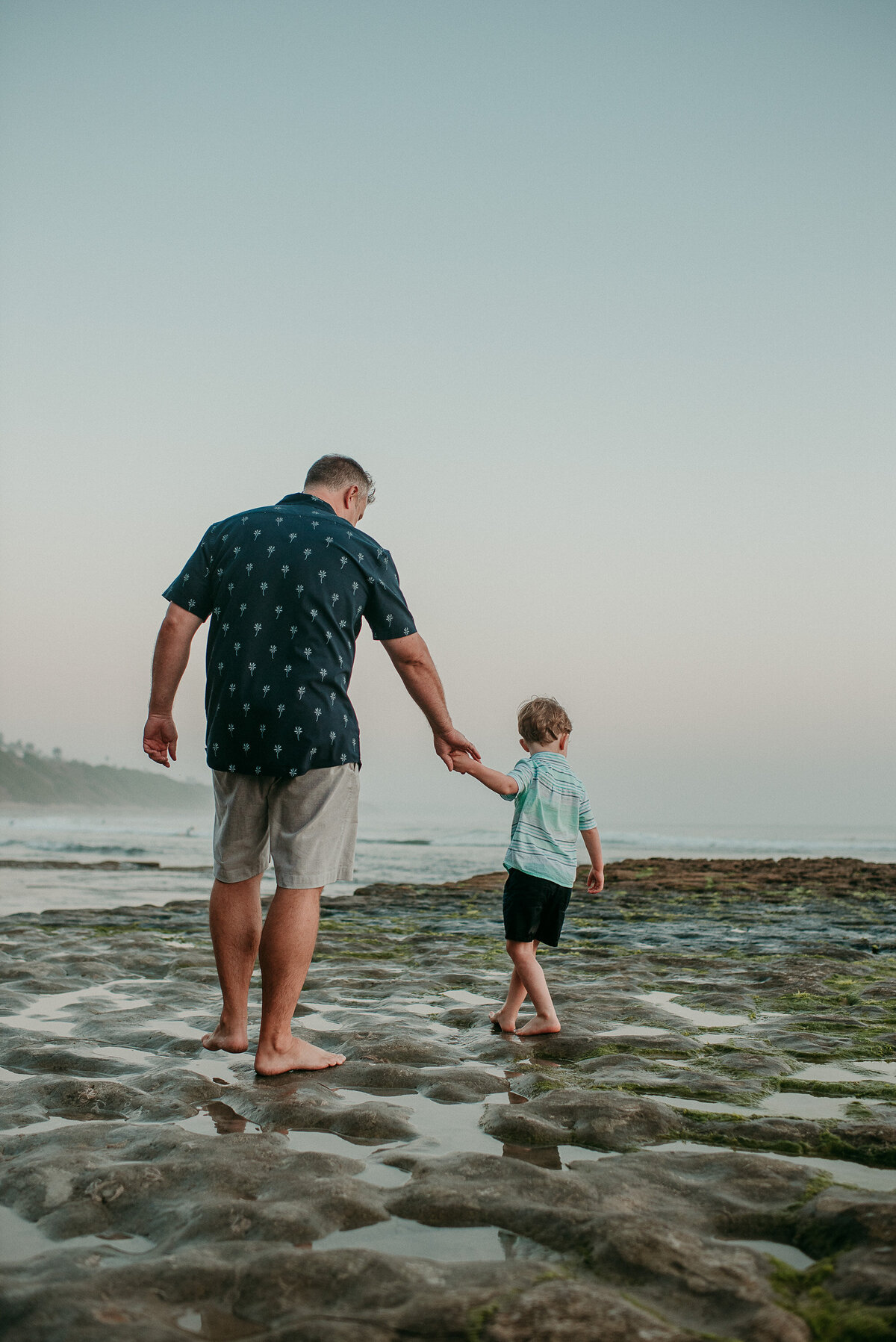 Carlsbad Family Photographer-father son tides105