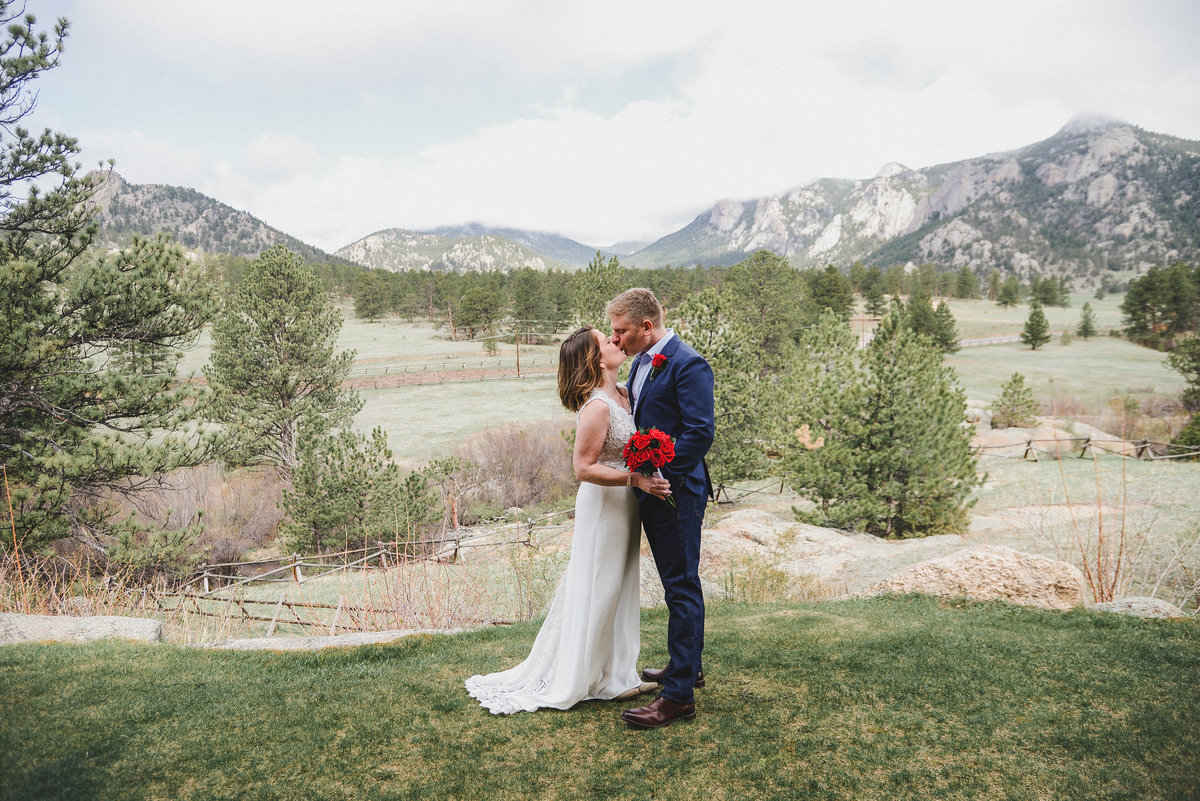 rocky mountains view wedding photography