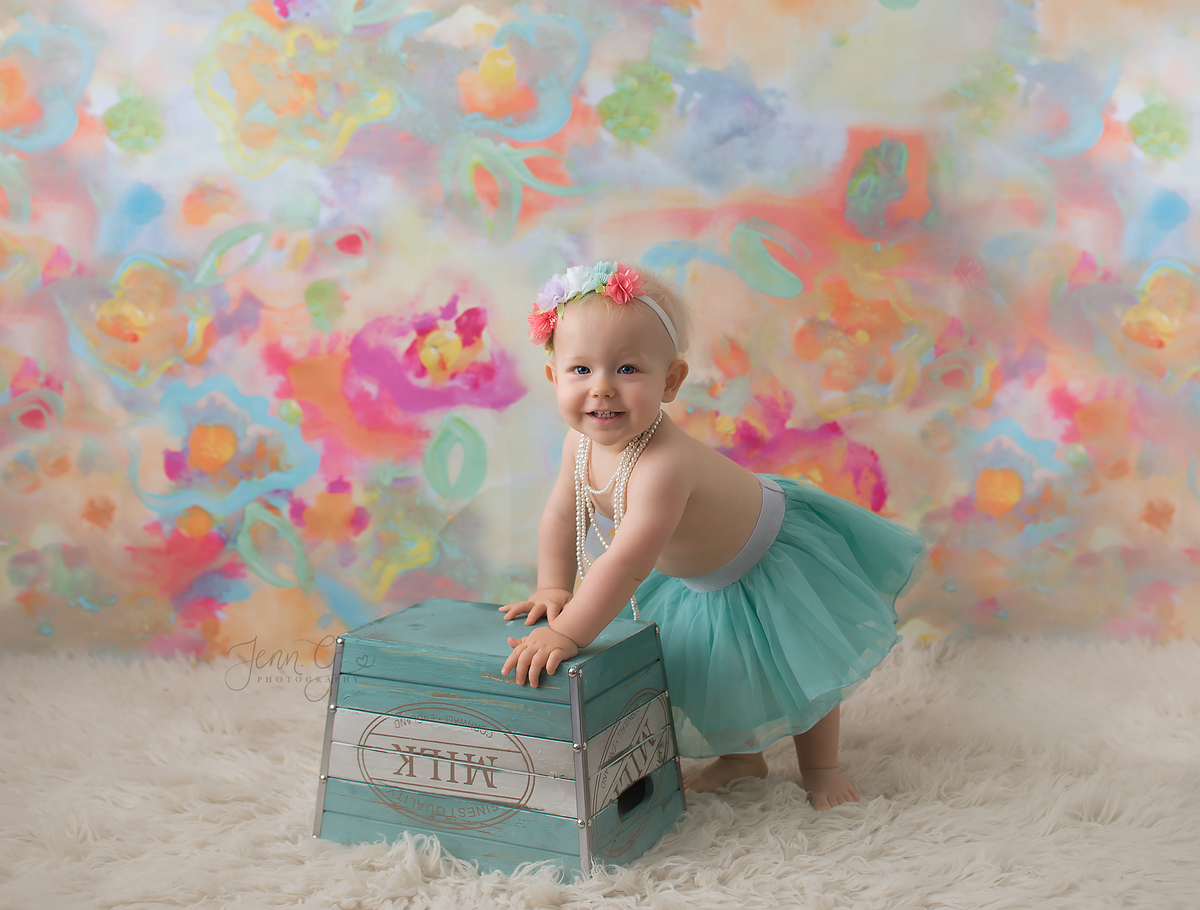 colourful baby portrait