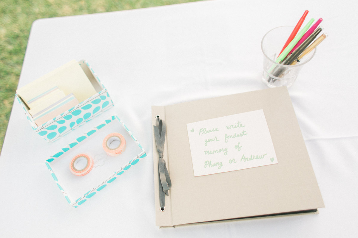 Handcrafted Wedding Guest Book