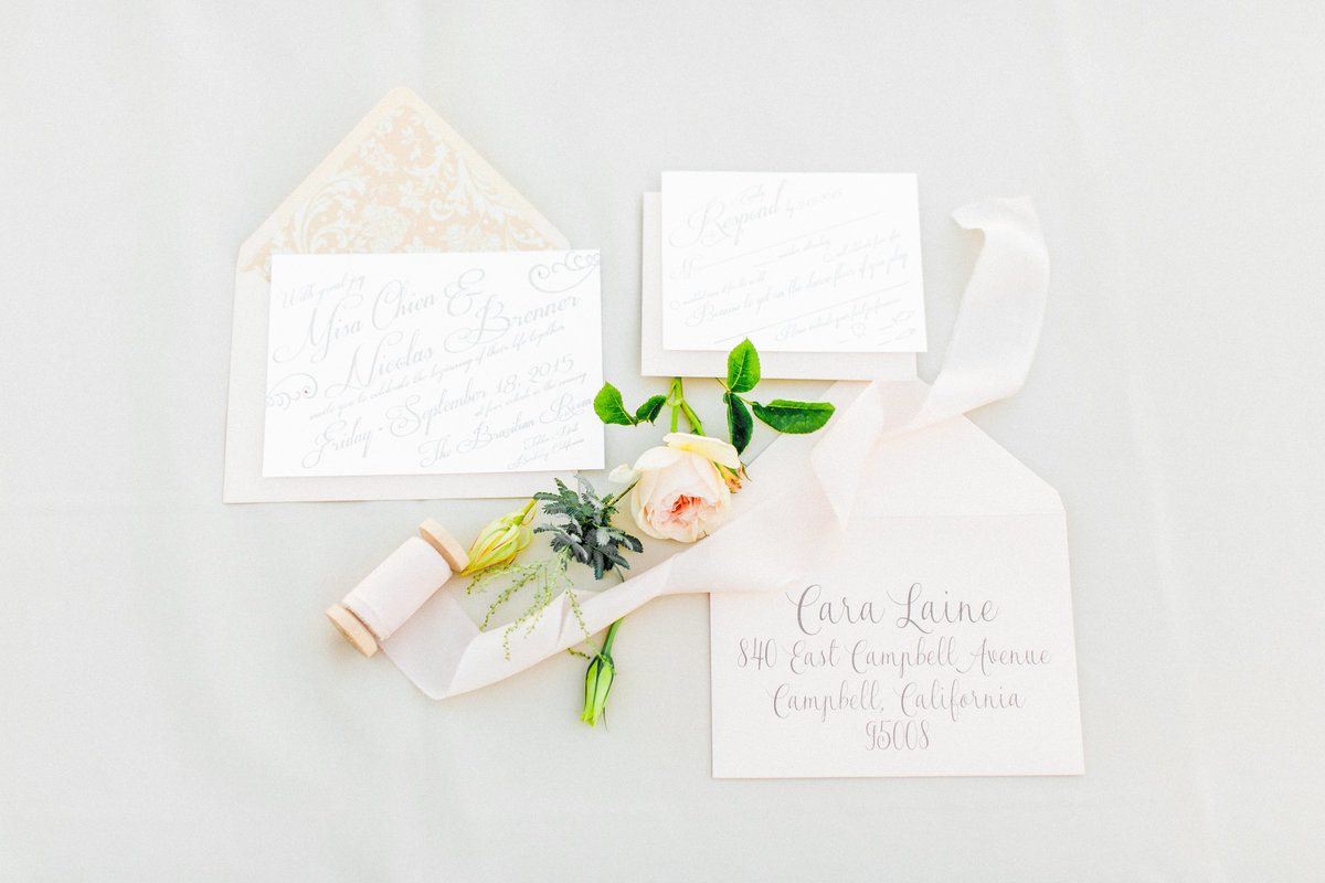 Letterpress Blush Pink Wedding Invites