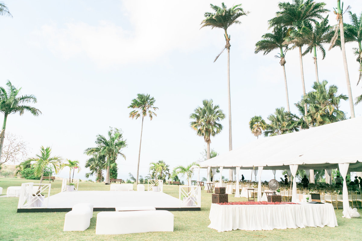 Outdoor tent wedding reception - Barbados destination wedding