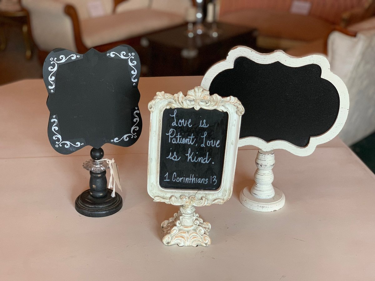 small stand chalkboards