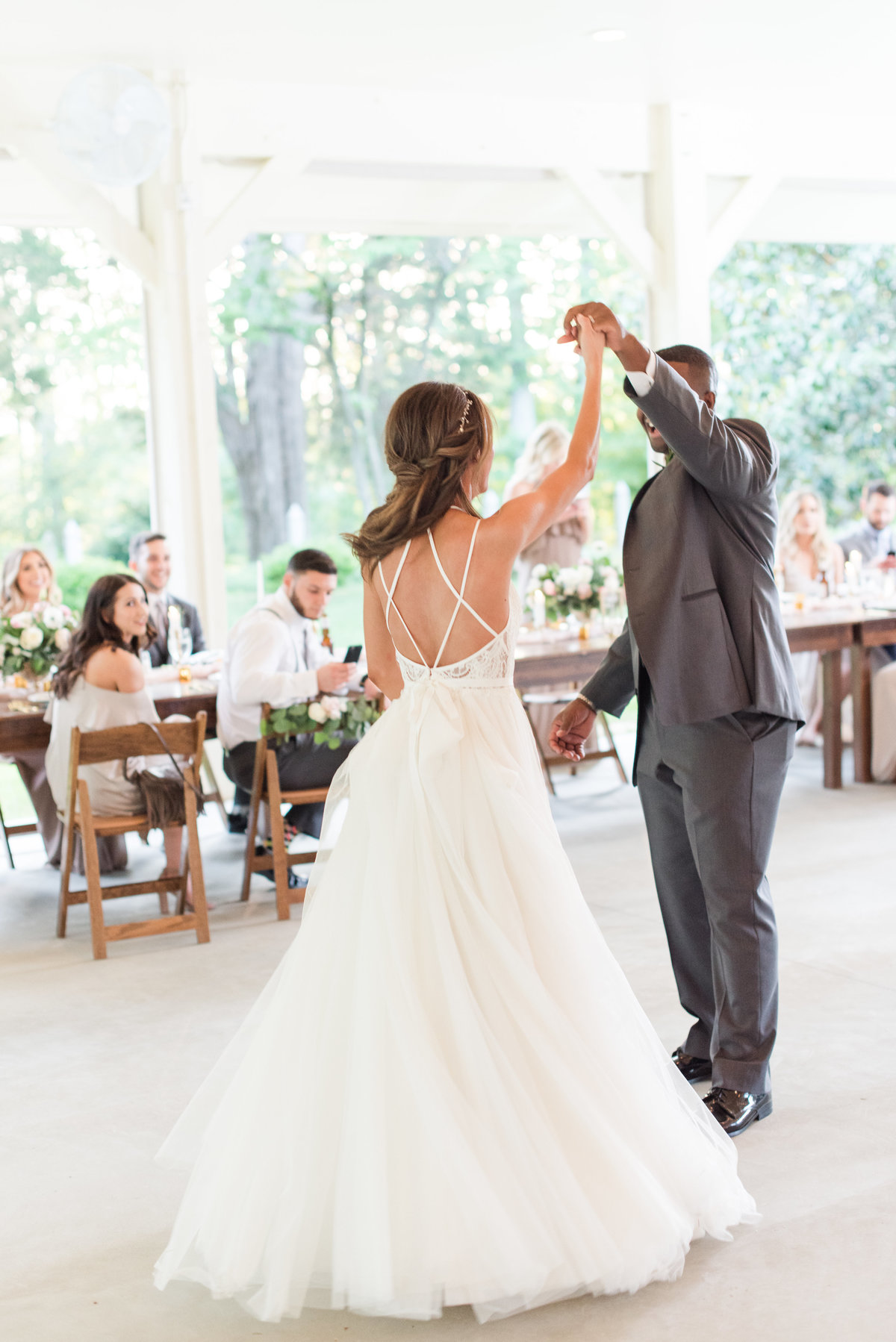 First dance at Seven Springs Farm Wedding