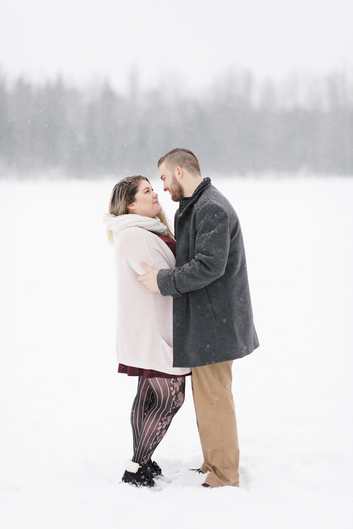 Alaska Snow Winter Engagement Photographer -6