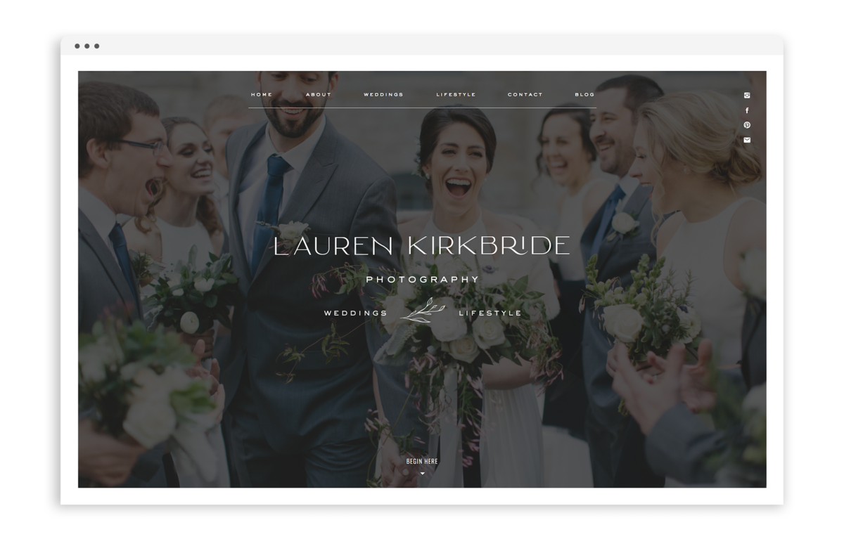 Lauren Kirkbride by With Grace and Gold - Best Showit Design Designs Designer Designers Theme Themes Template Templates Web Website Websites for Photographers Creatives Small Business Owners - 0