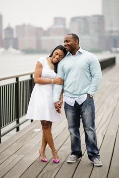 African American Couple Engagement Photo Shoot