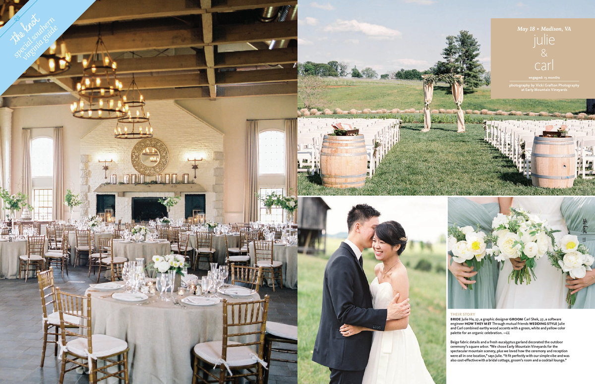 Kelley Cannon Events The Knot Early Mountain Wedding