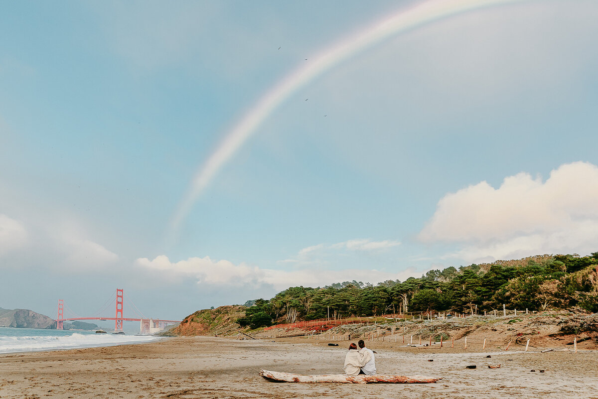 Golden Gate Rainbow Engagement Session - Marie Monforte