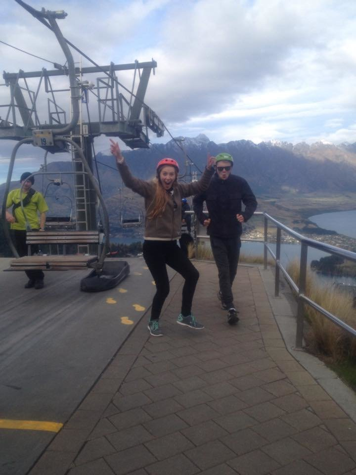 Harry Ward and Annie Melling in Queenstown, NZ