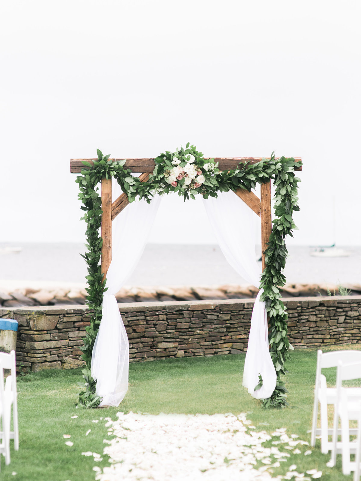 Coastal wedding ceremony on Cape Cod